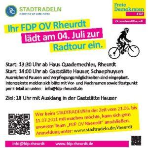Radtour mit der FDP (Aktion Stadtradeln)