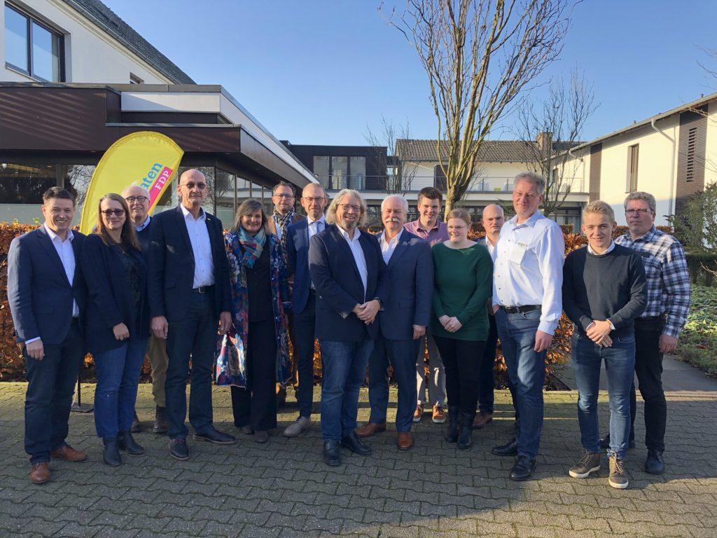 Alle gewählten Kandidaten der Reserveliste der FDP Kleve-Geldern für den Kreistag in Kleve
